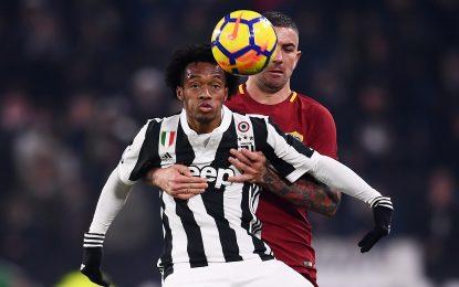 Juan Guillermo Cuadrado, presente en el triunfo de la Juventus ante la Roma