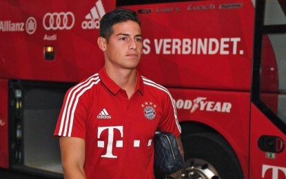James ya está en Doha con el Bayern Múnich