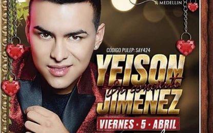 Yeison Jimenez Estará En Medellin Este 5 De Abril En La Chula