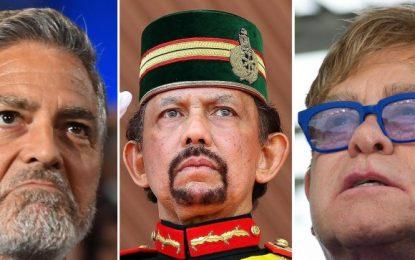 La cruzada de Elton John y Clooney contra los hoteles de un sultán