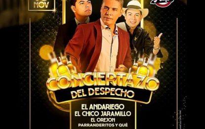 El Orejon Trovador,El Andariego Music Y El Chico Jaramillo Se Agotan Las Mesas VIP Para El Conciertazo En Quimbaya Quindio. Info: 3006551629Donde Alejo Disco Bar