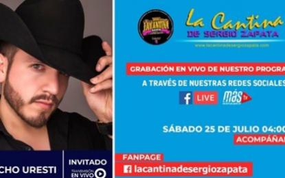 """Pancho Uresti El Artista Mexicano Ex Vocalista De La Banda """"Tierra Sagrada"""" Es Invitado Hoy En Nuestro Programa La Cantina De Sergio Zapata En Vivo."""